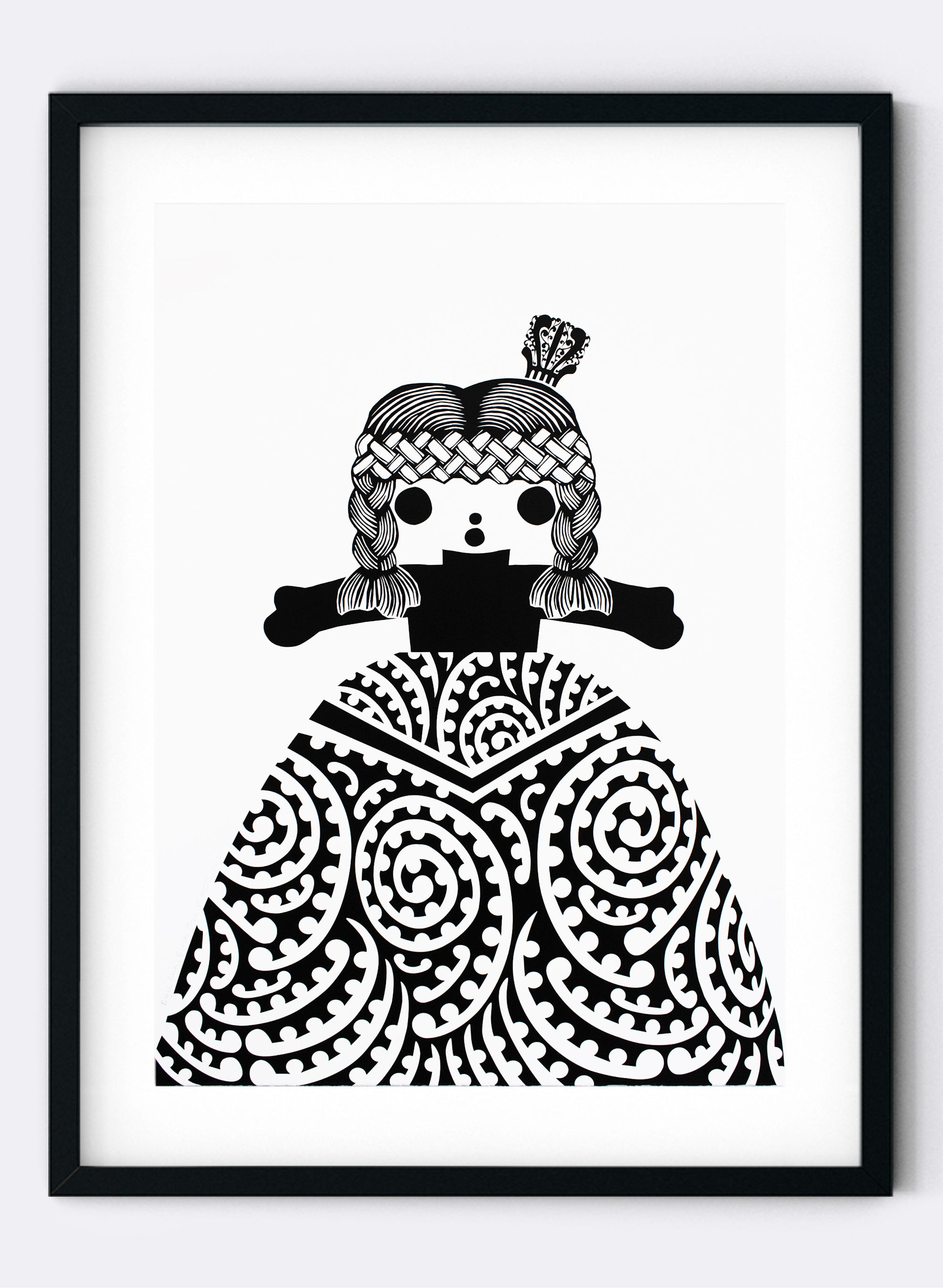 Royal Rua | Black - Screen Print