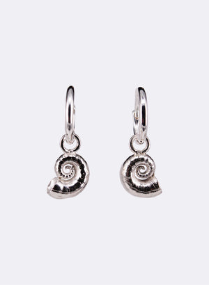 Spiral Shell Earrings - Sterling Silver