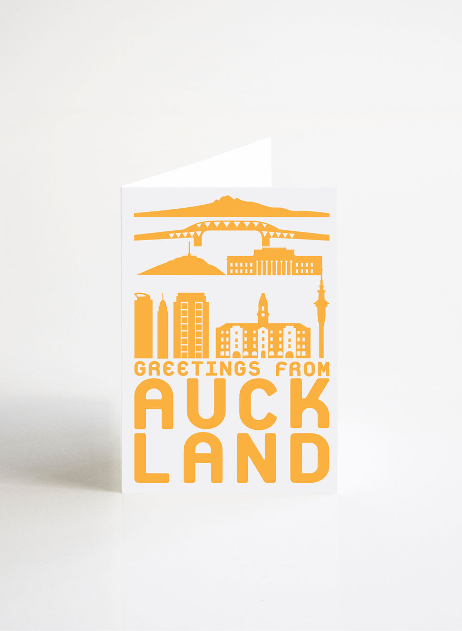 Greetings From Auckland - Yellow