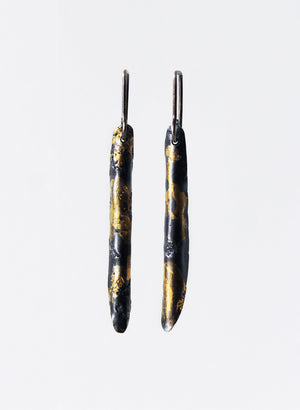 """Wrapped"" Cylindrical Pendant Earrings"