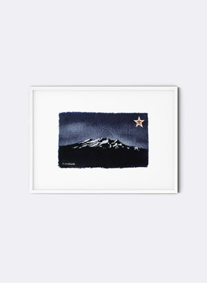 Mt Ruapehu - Postcard Artwork - Navy