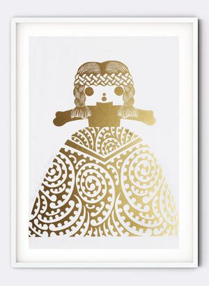 Mini Royal Rua | Gold - Screen Print