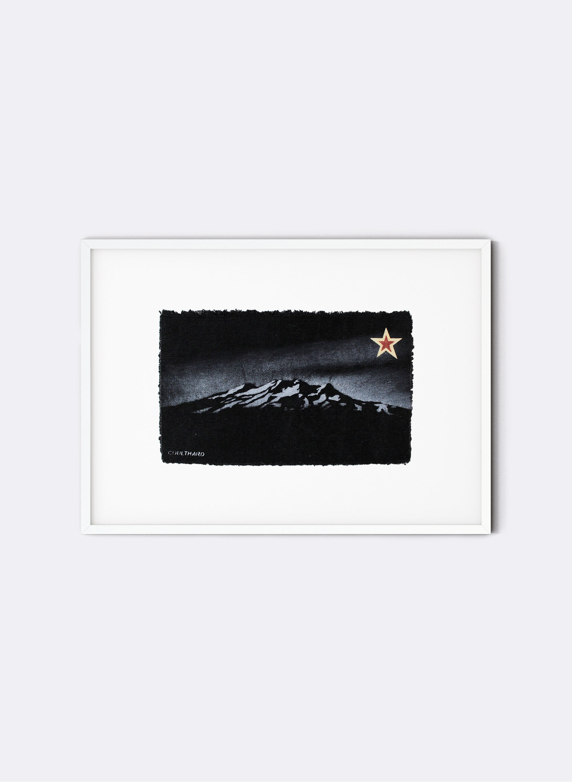 Mt Ruapehu - Postcard Artwork - Black
