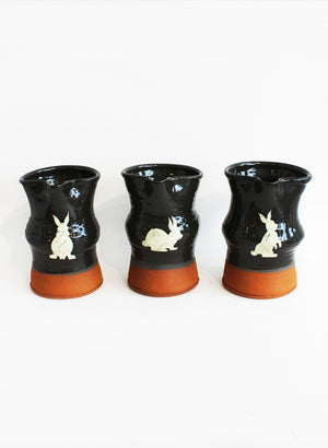 Small Bunny Jug - Black / Side