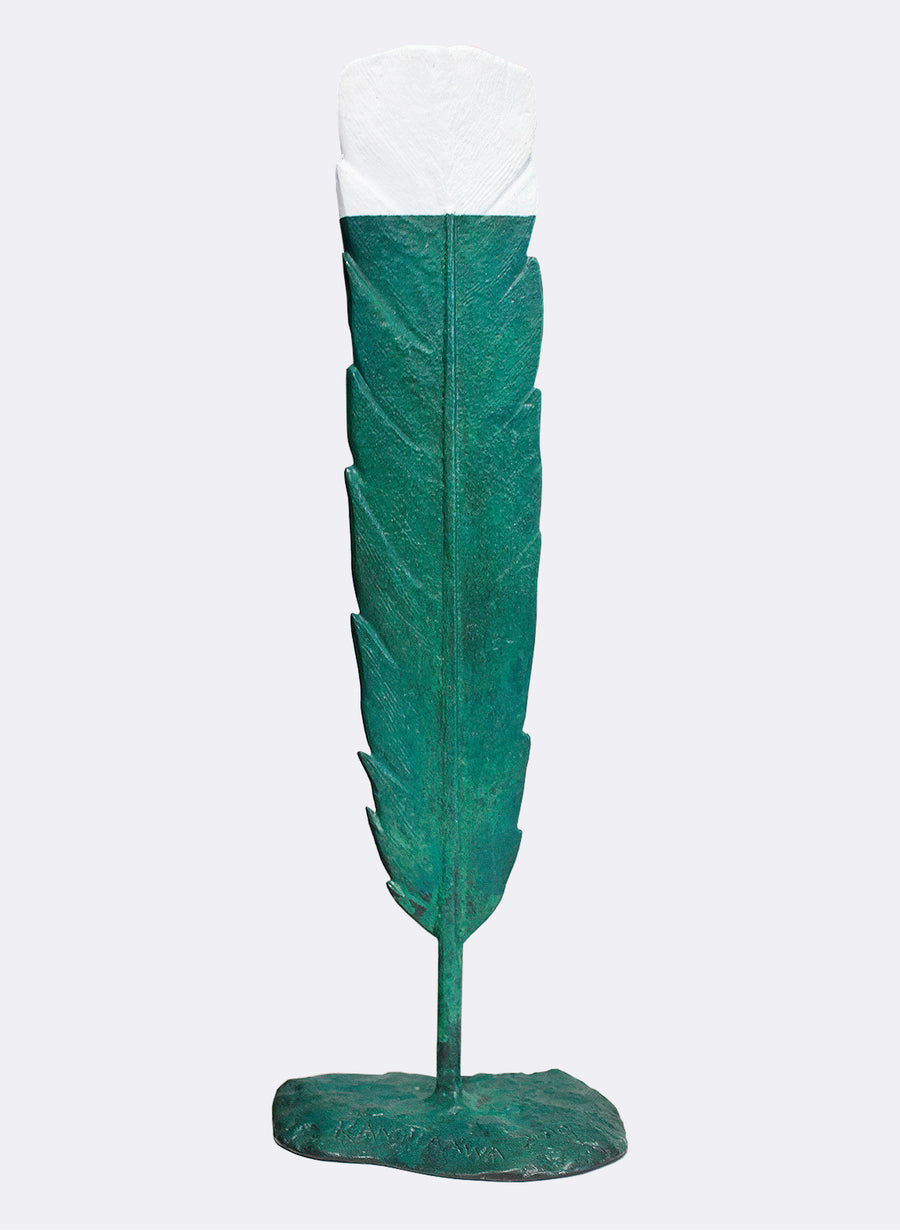 Boxed Green Huia Feather