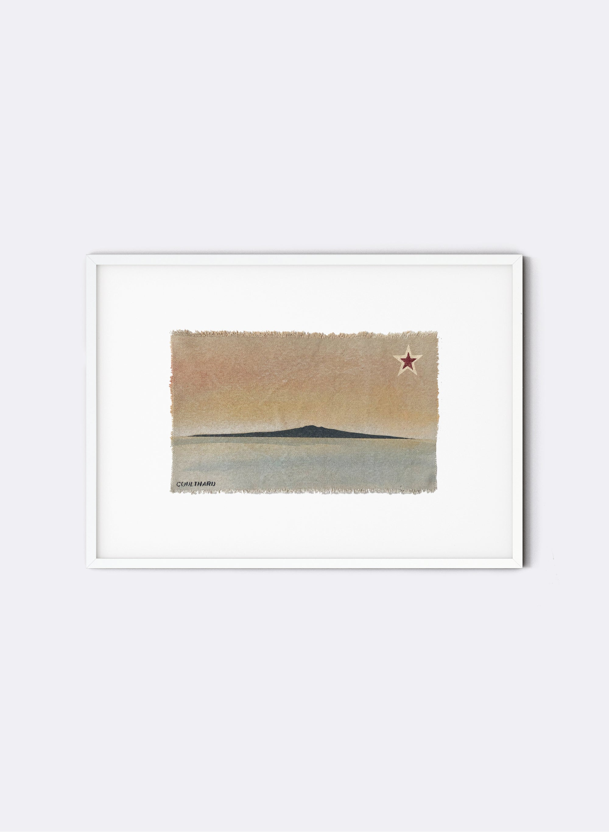 Rangitoto - Postcard Artwork - Peach