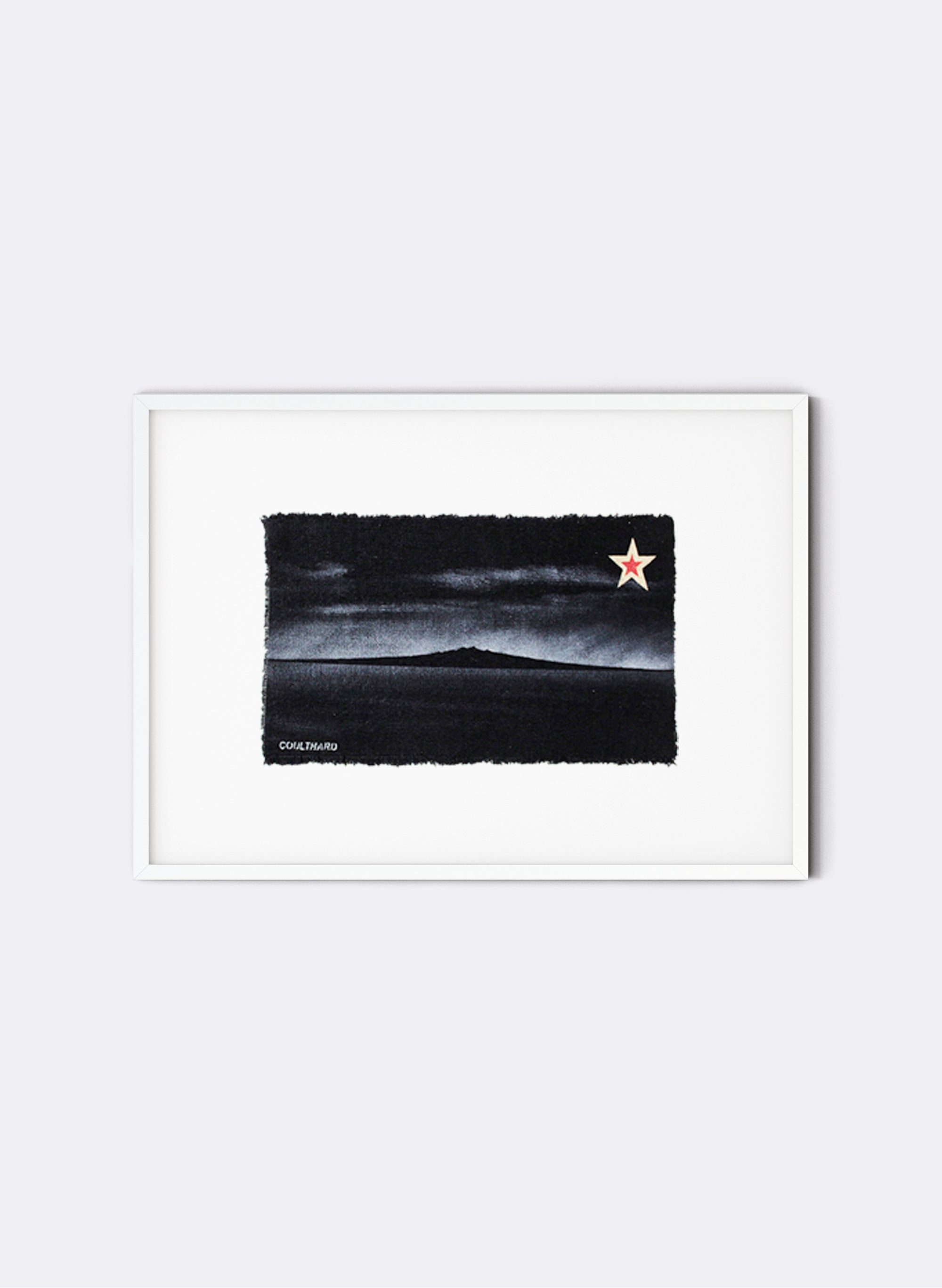 Rangitoto - Postcard Artwork - Black