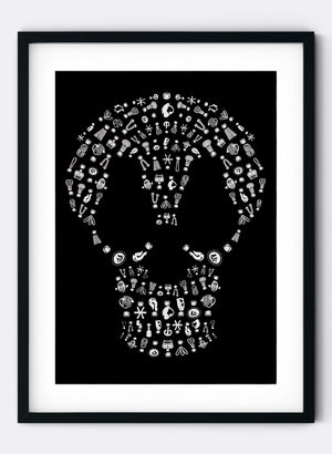 Skull & Dolls - Screen Print