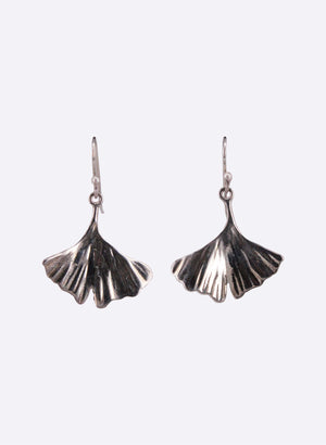 Silver Gingko Leaf earrings