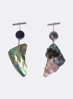 Paua Shell Drop Earrings