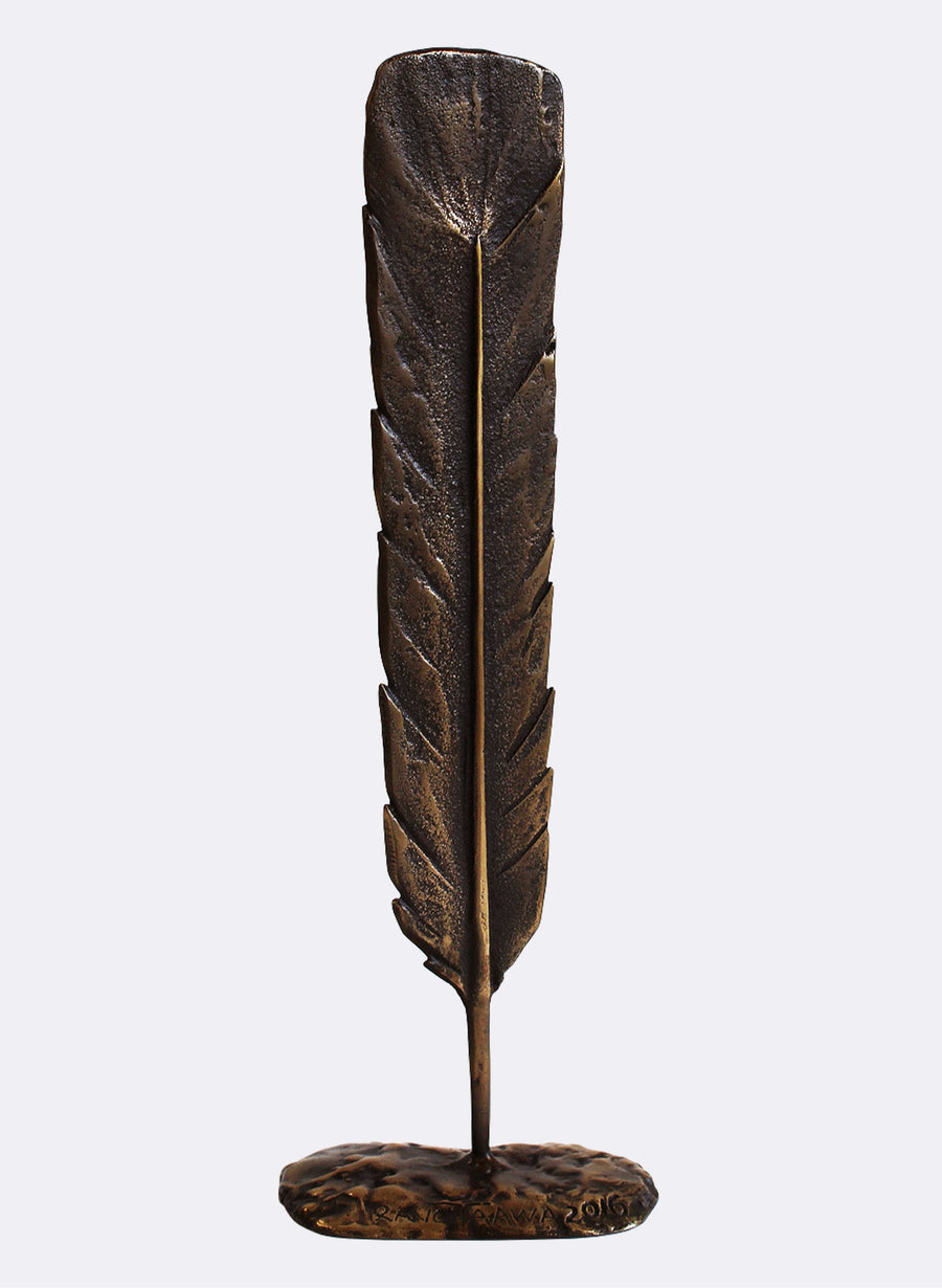 Bronze Huia Feather