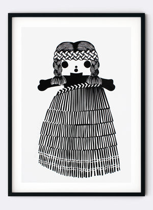 Mini Classic Girl | Black - Screen Print