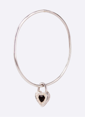 Sweet Heart Bangle - Garnet