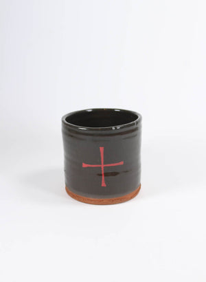 Red Cross Mug - Black