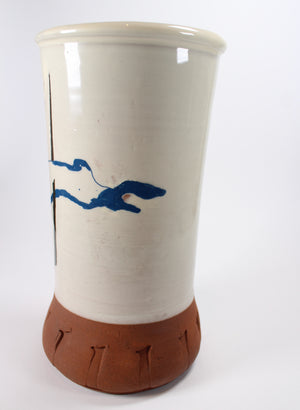 Large Vase - Blue Rabbit