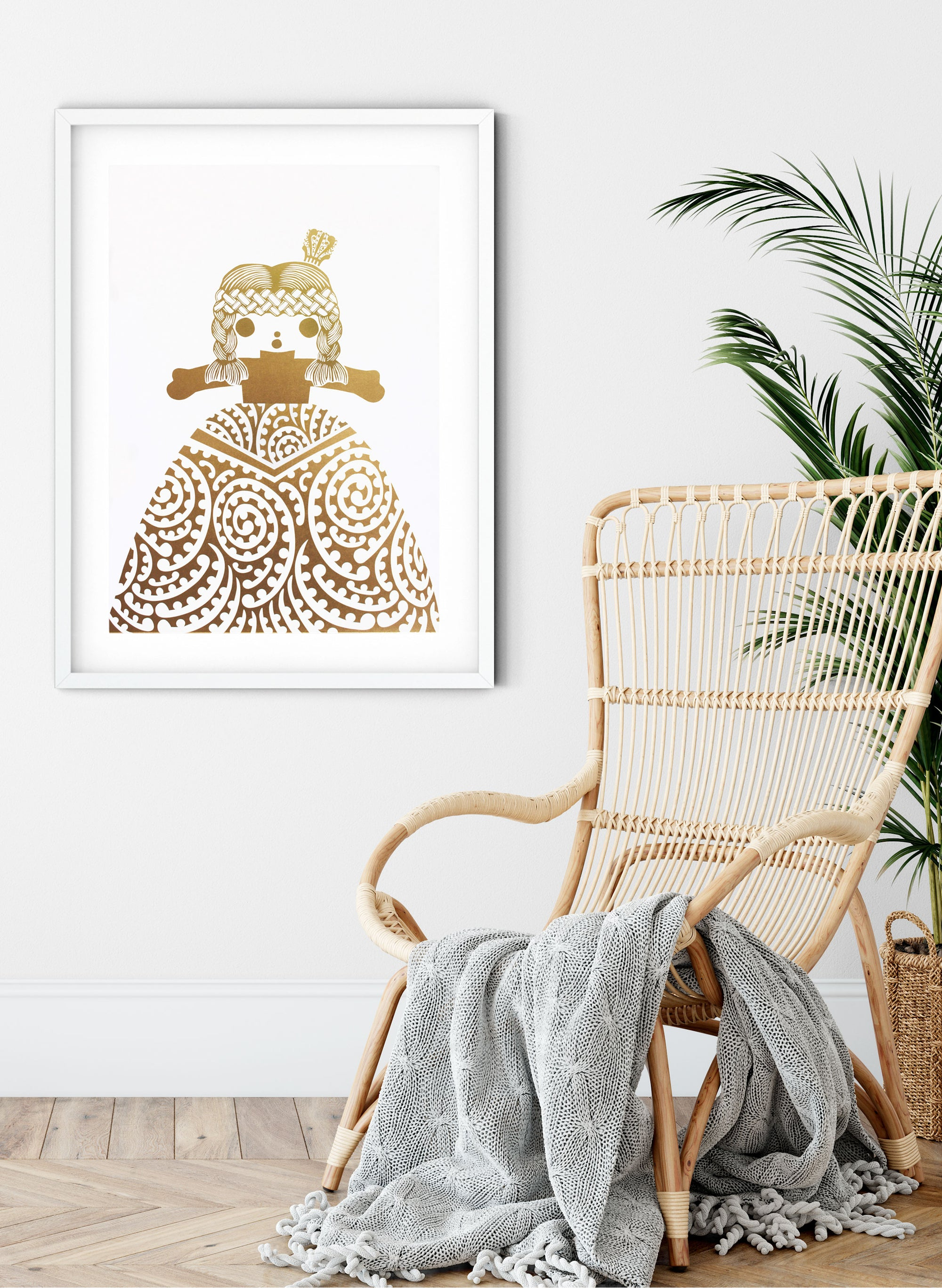 Royal Rua | Pale Gold - Screen Print