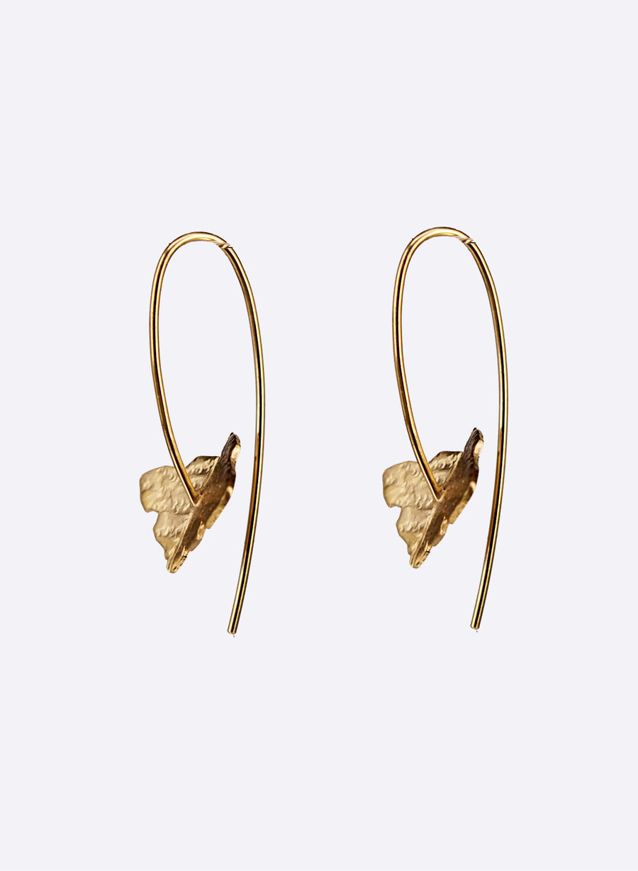 Leaf tipped earrings
