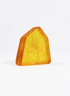 Small Cast Glass Object 'Kia Kaha' - Yellow