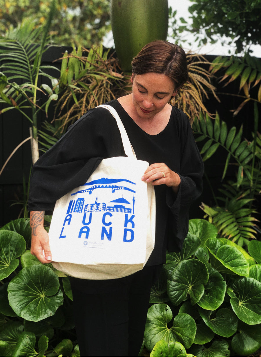 Auckland Tote Bag - Blue