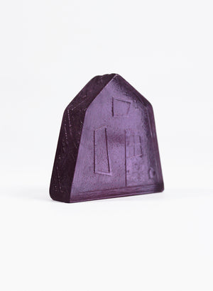 Small Cast Glass House - Purple