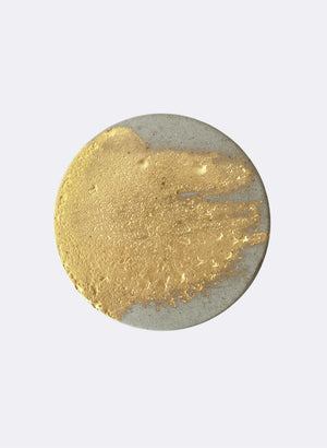 Gold and Natural - Set of 2 coasters.