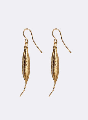 Rewarewa Drop Earrings - Gold Plating & Sterling Silver
