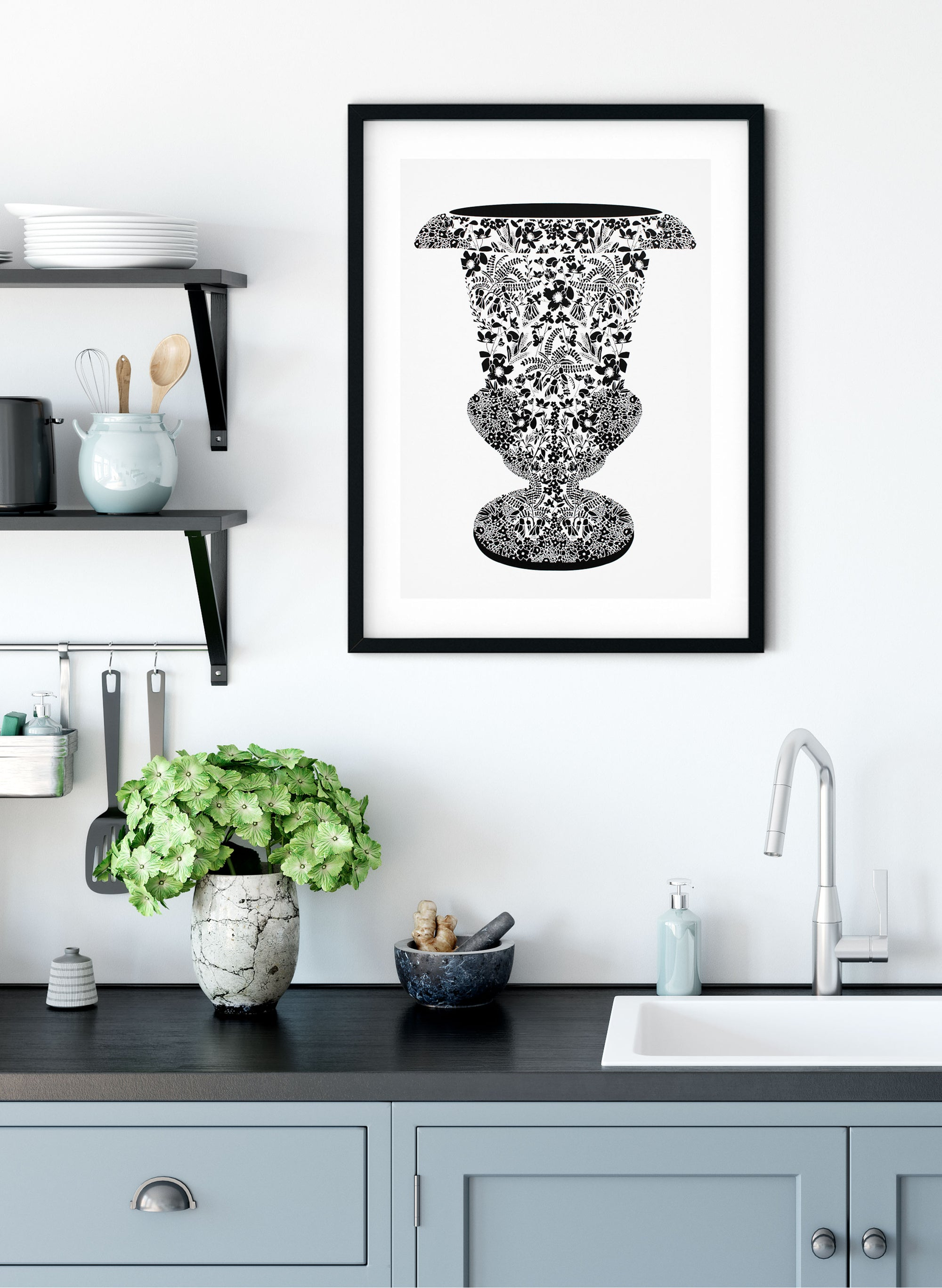 Precious Vessel | Black - Screen Print