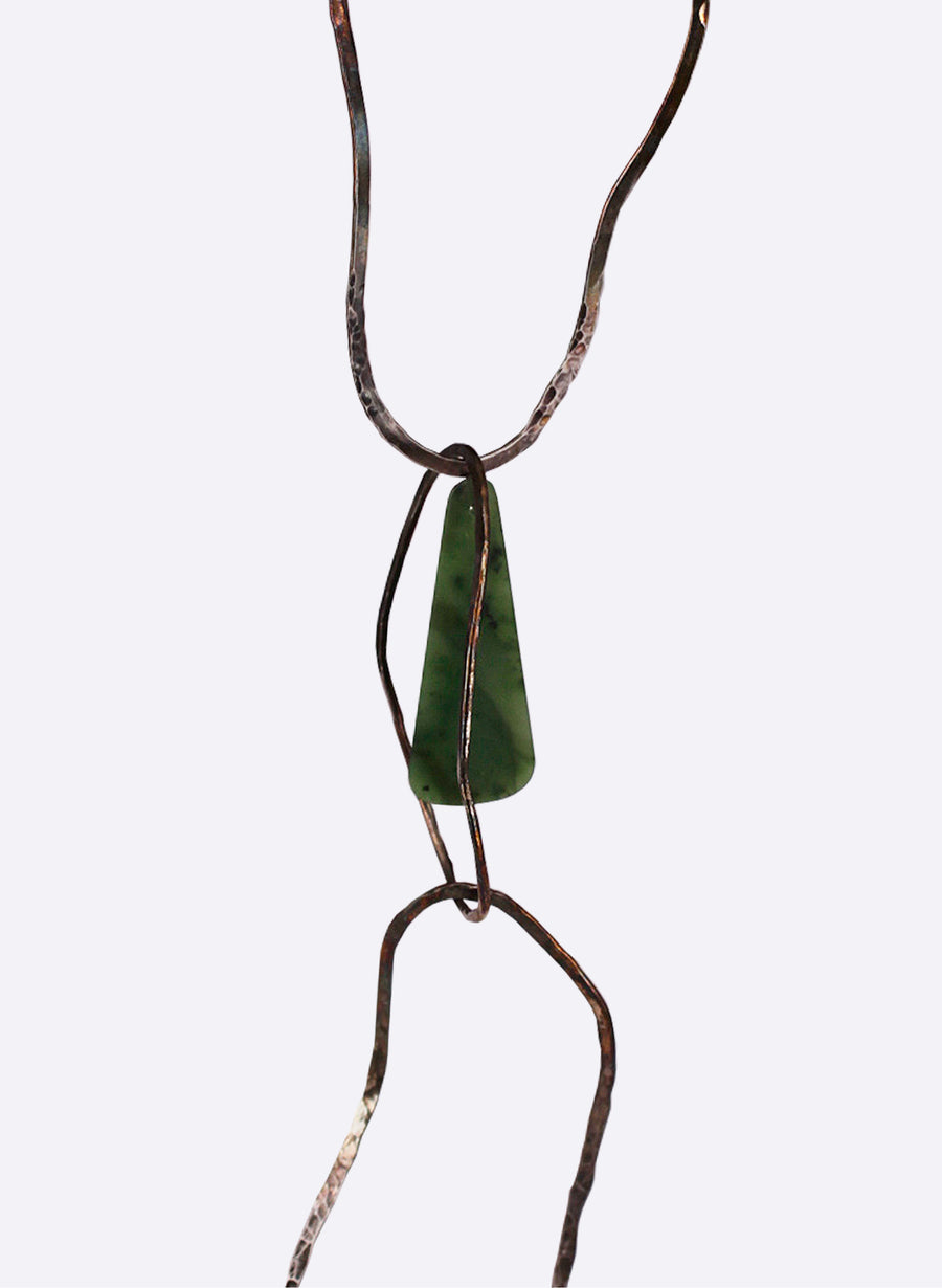 Necklace - Sterling Silver & Pounamu
