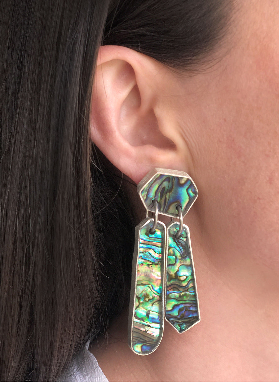 Paua Drama Earrings