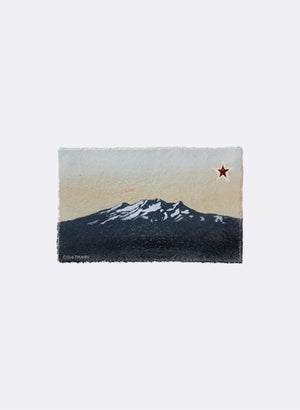 Mt Ruapehu - Postcard Artwork - Peach