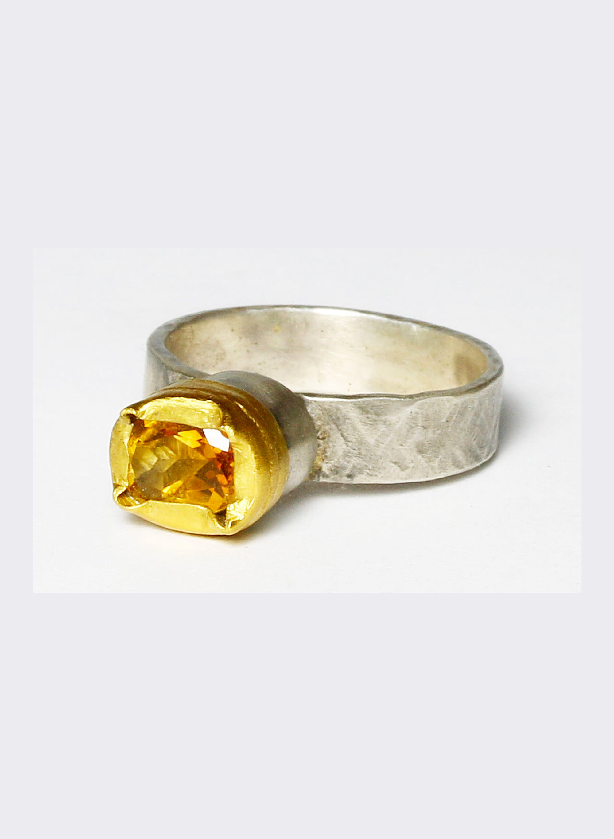 Citrine + Sterling Silver Ring