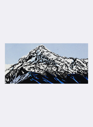 Mount Aoraki (Mount Cook) | Small - Woodblock Print