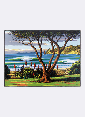 Wainui Waves - Screenprint
