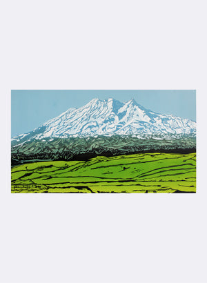 Mount Ruapehu | Large - Woodblock Print
