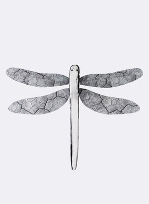Ceramic Dragon Fly - Black