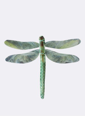 Ceramic Dragon Fly - Green Rushes