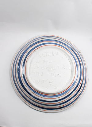 3 Coloured Large  Plate