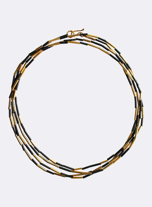 Long Piupiu Strand Necklace - Gold