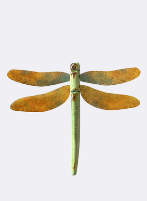 Ceramic Dragon Fly - Copper