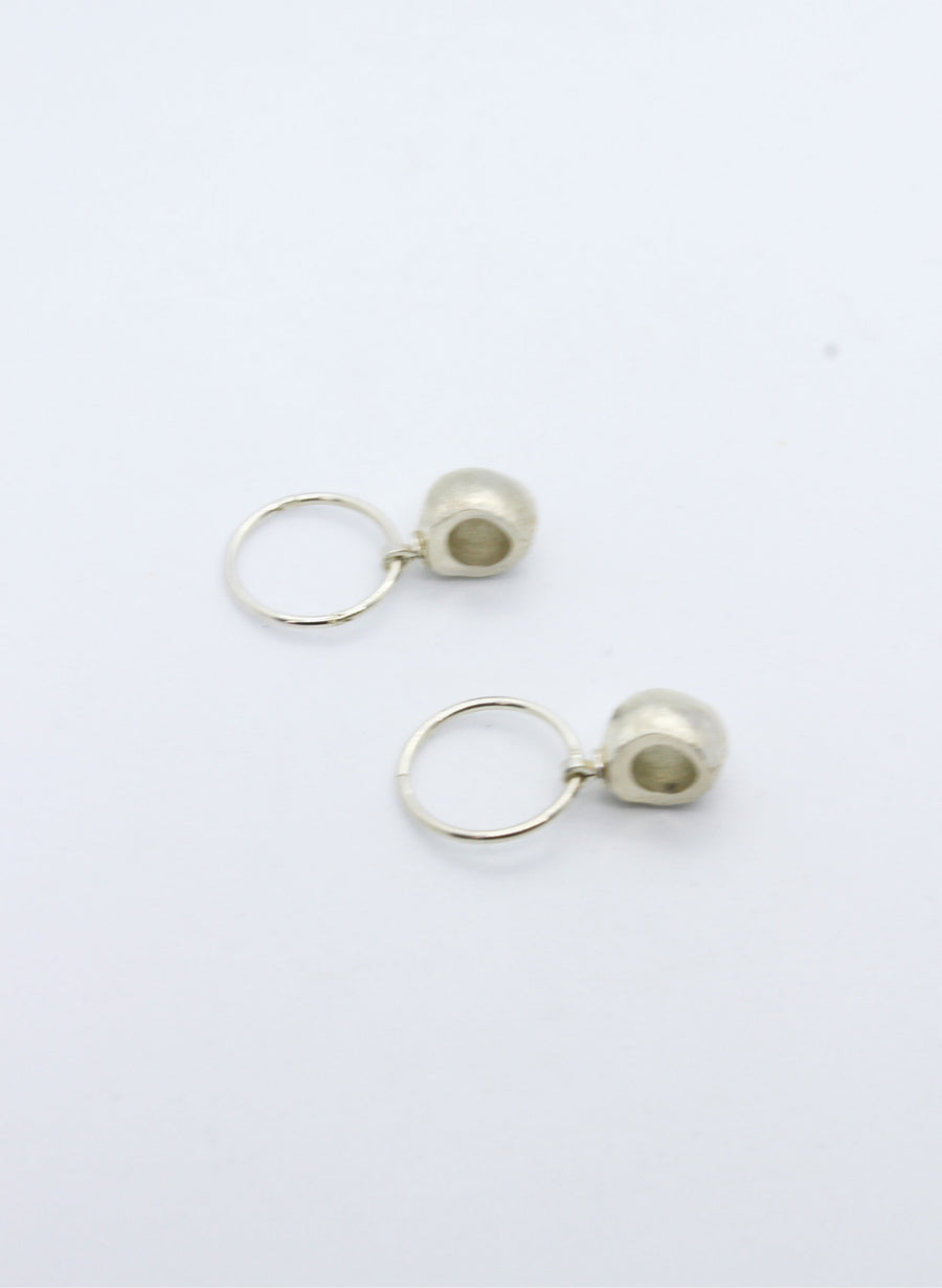Silver Fruit Vessel Earrings