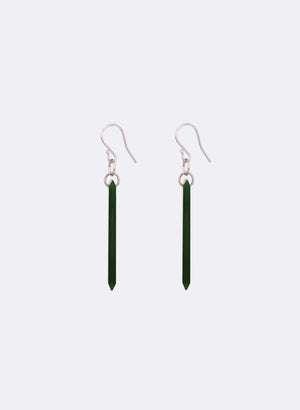 Rectangle Pounamu Drop Earrings