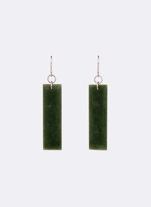Pounamu Facet Bar Earrings