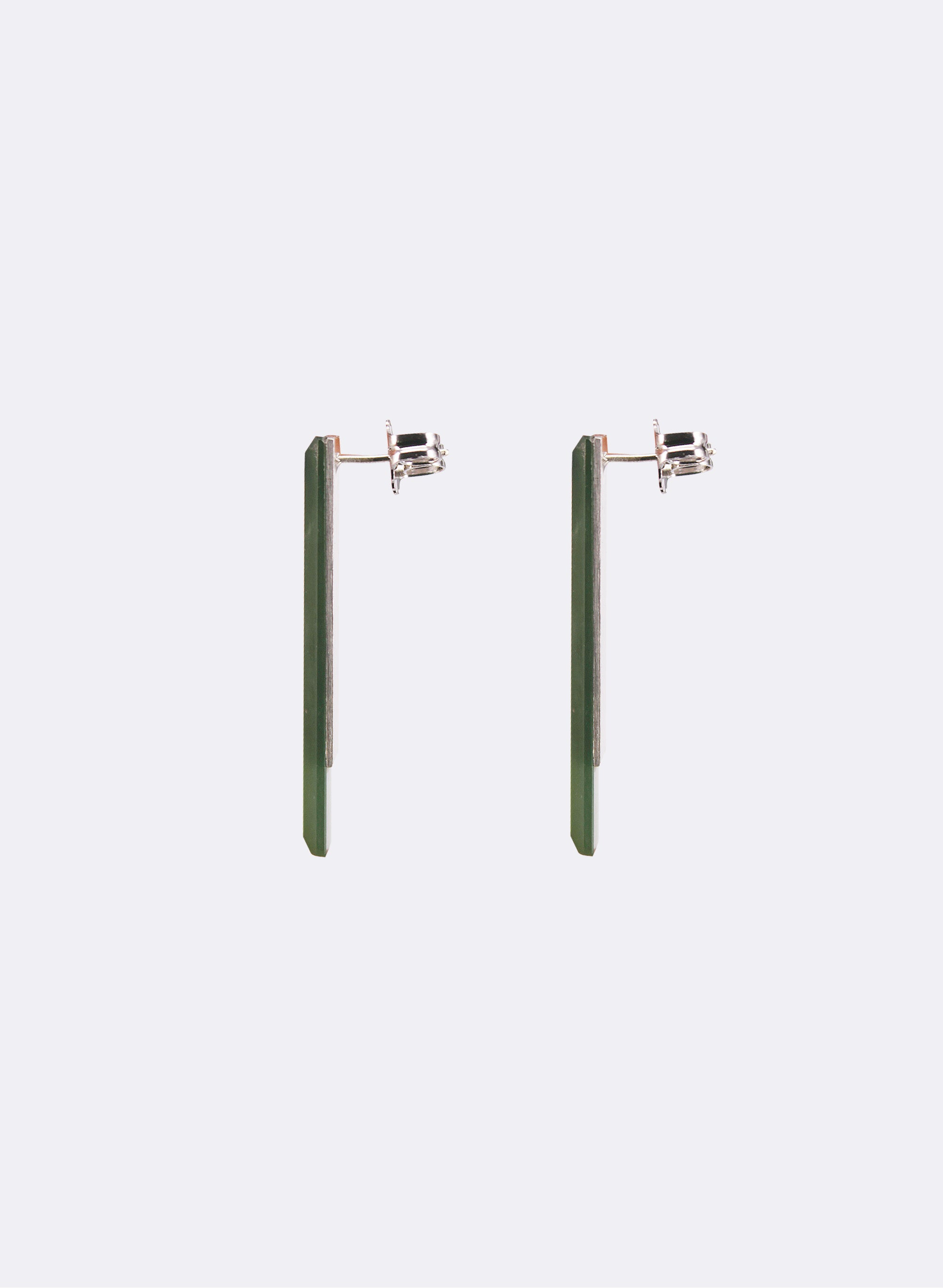 Pounamu Facet Stud Earrings