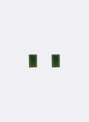 Rectangle Pounamu Studs