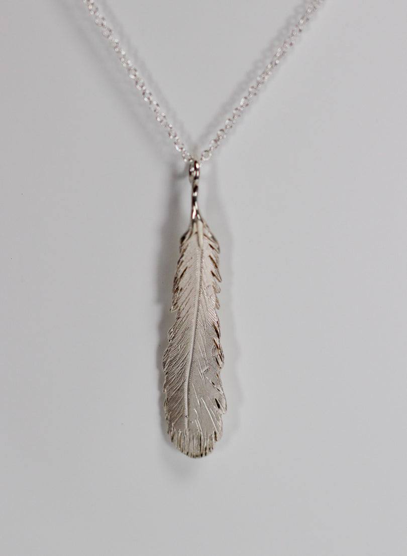 Feather Necklace - Sterling Silver