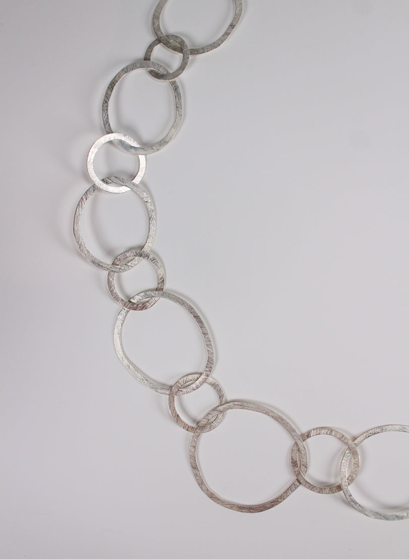 Round Link Necklace -Sterling Silver