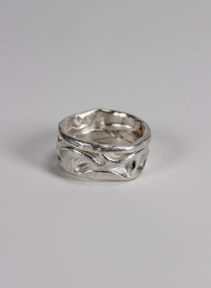 Crush Band Ring Silver Medium