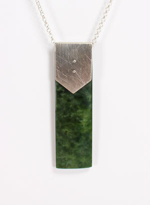 Pounamu Toki and Sterling Silver Chain
