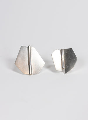 Medium Folding Hinge Sterling Silver Studs