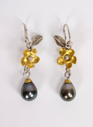 Haitian Pearl Earrings